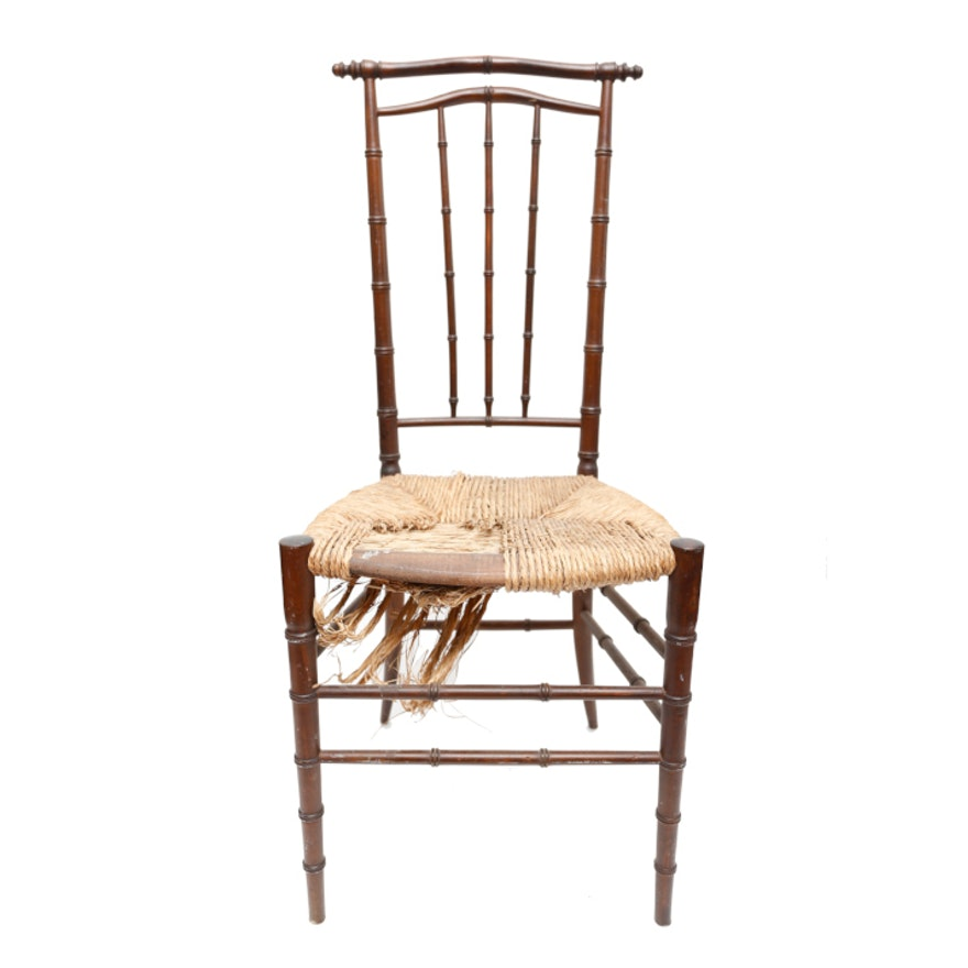 Bamboo Turned Chair: Faux Bamboo Side Chair In The Chinese Style