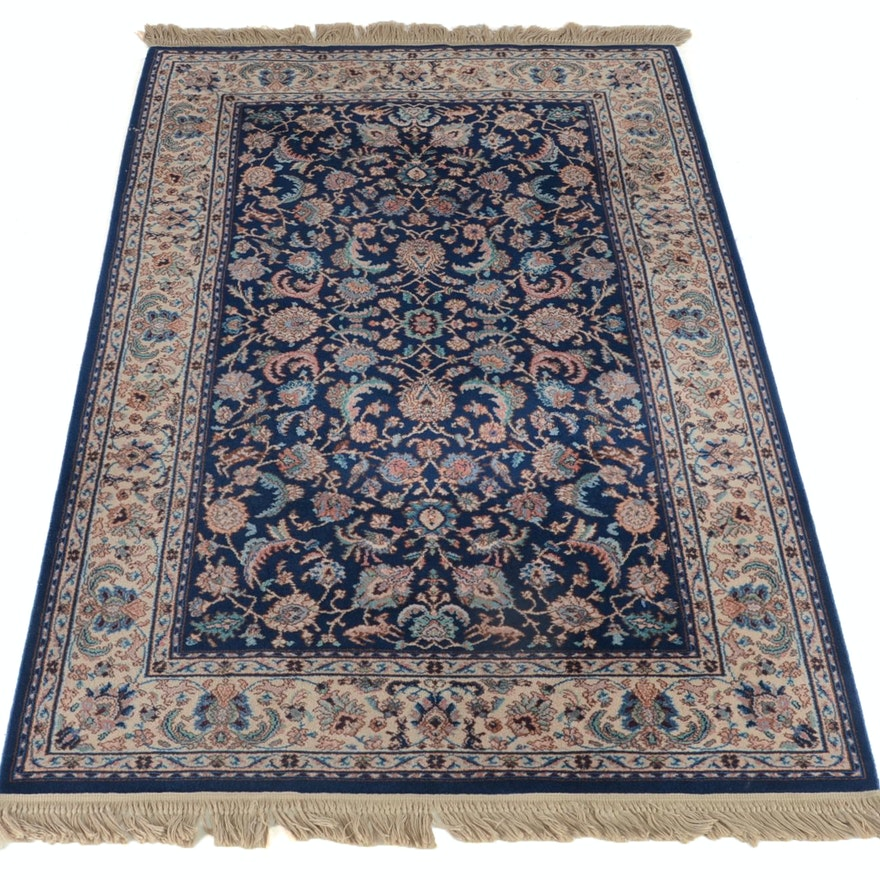 Karastan Indigo Tabriz Machine Woven Wool Rug