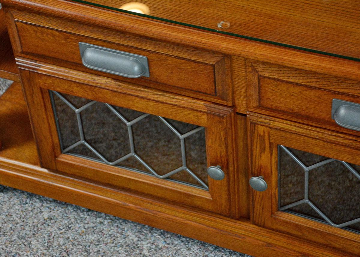 Lift Top Ashley Furniture Oak Veneer Coffee Table : EBTH