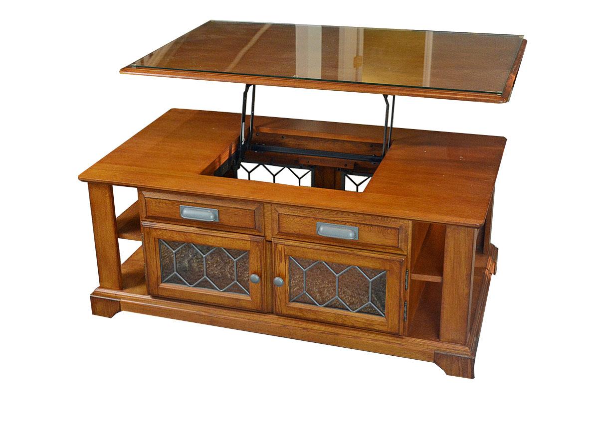 Lift Top Ashley Furniture Oak Veneer Coffee TableEBTH