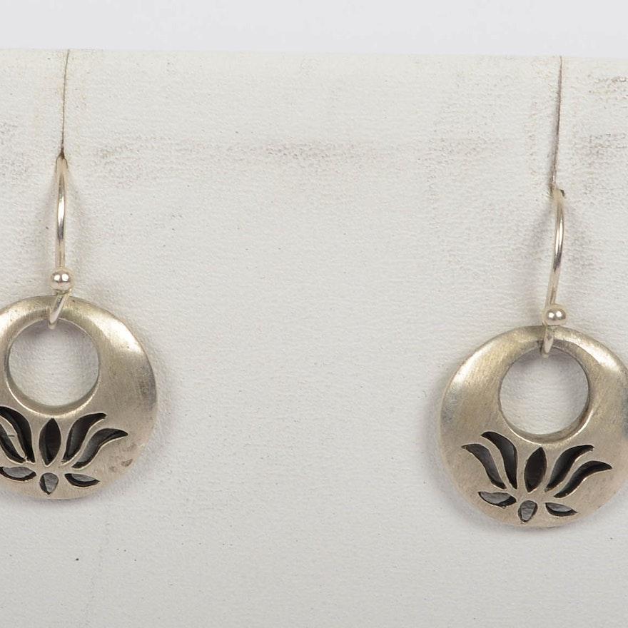 Satya Open Lotus Sterling Silver Earrings
