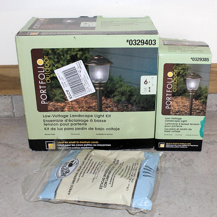 Portfolio Outdoor Low Voltage Landscape Light Kit Ebth
