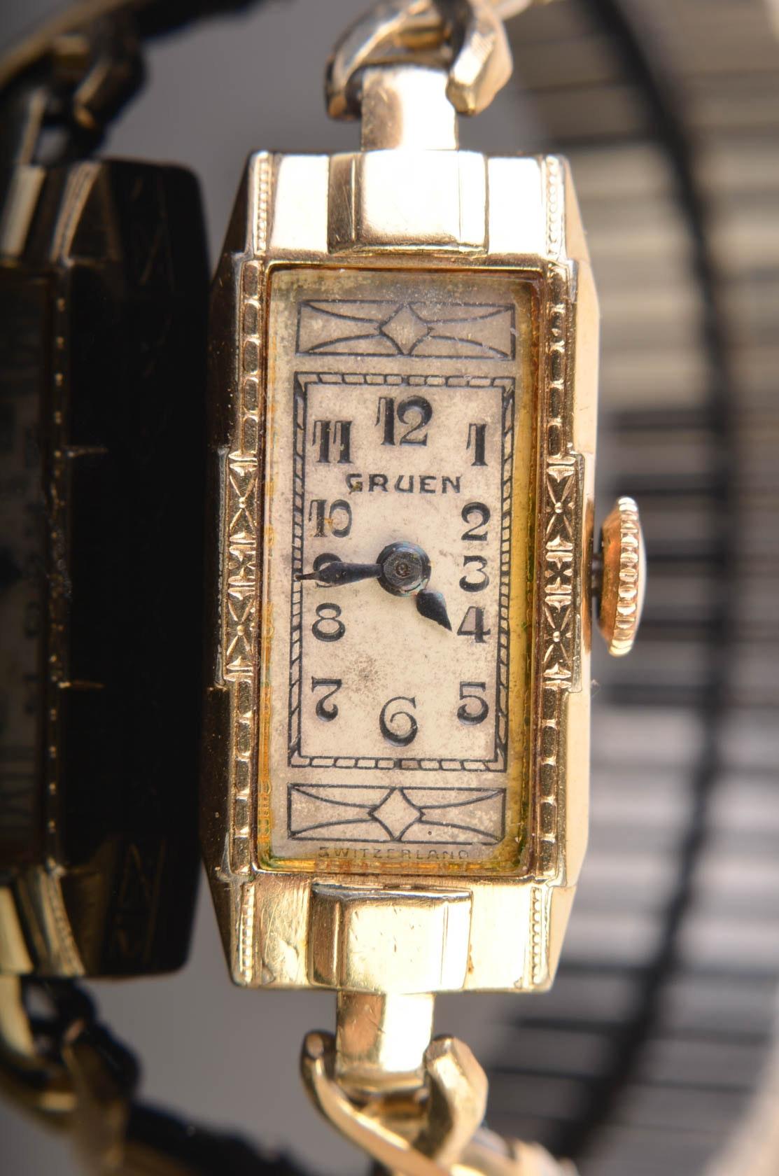 vintage 1936 women 39 s gruen wristwatch ebth. Black Bedroom Furniture Sets. Home Design Ideas