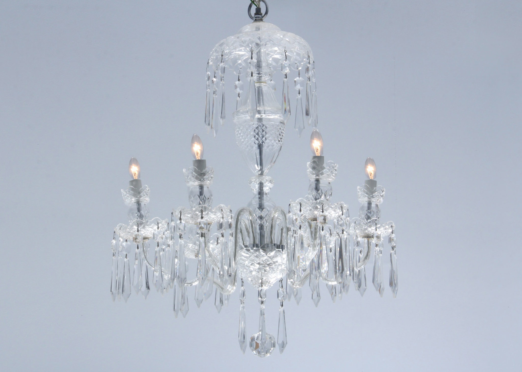 Waterford Crystal Avoca Six Arm Chandelier ... & Waterford Crystal Avoca Six Arm Chandelier : EBTH