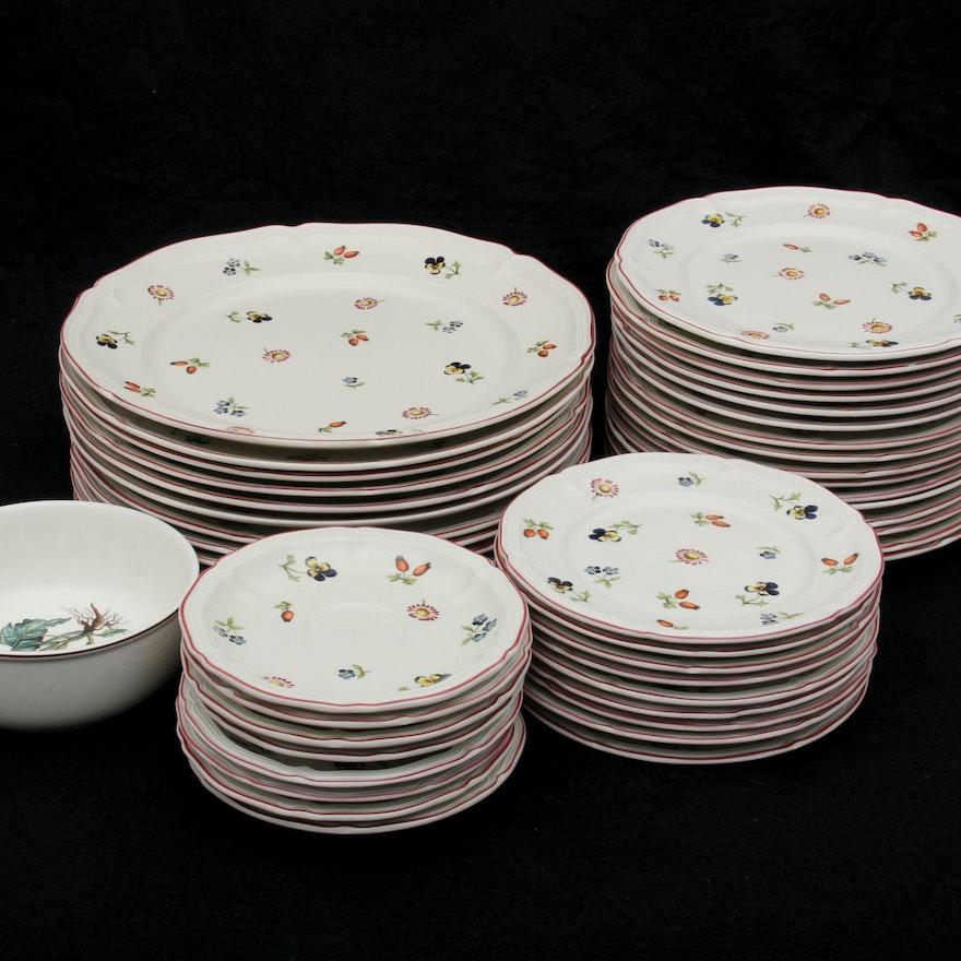villeroy and boch porcelain plates petite fleur ebth. Black Bedroom Furniture Sets. Home Design Ideas