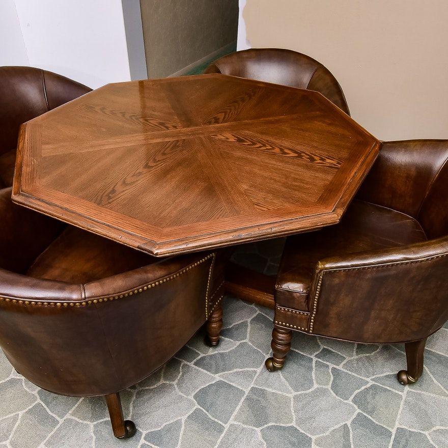 Ethan Allen Game Table And Chairs Ebth