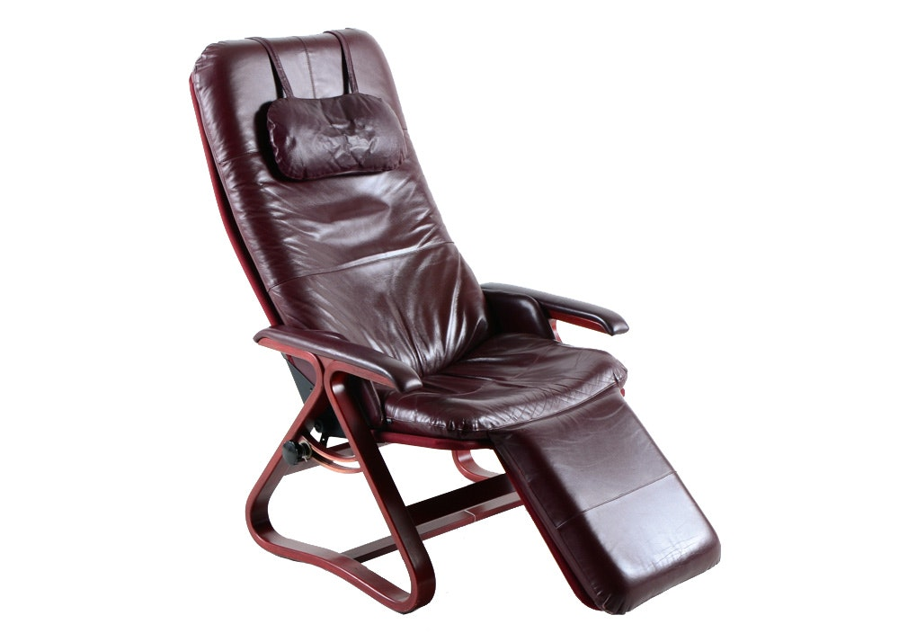 "Signature ""Backsaver"" Leather Zero Gravity Chair : EBTH"