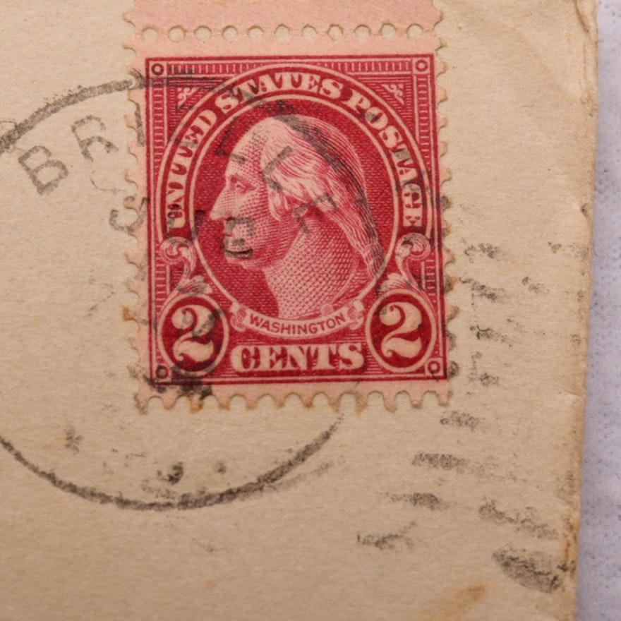2 Cent Red 1922 Type II Washington Stamp EBTH
