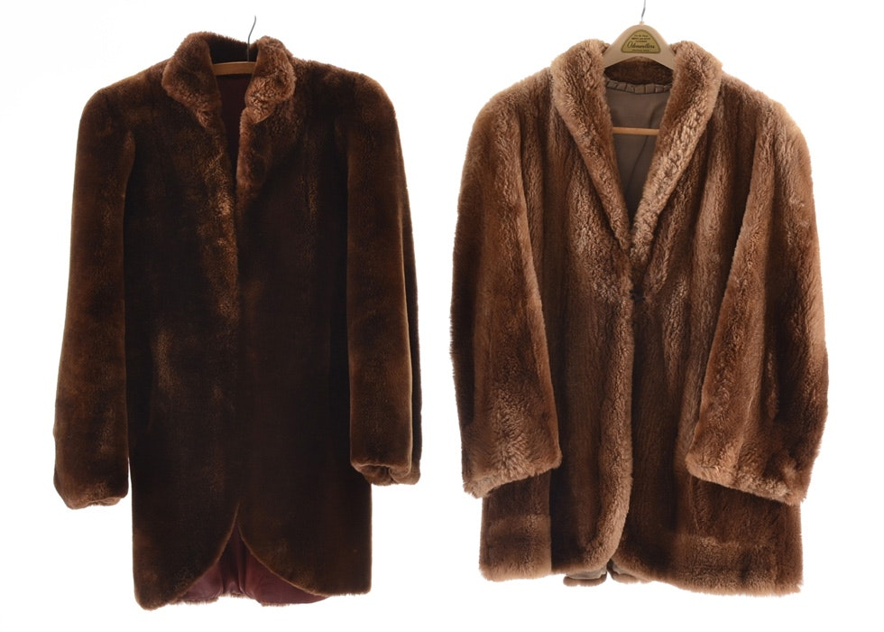 Vintage Mouton and Sheared Beaver Fur Coats : EBTH
