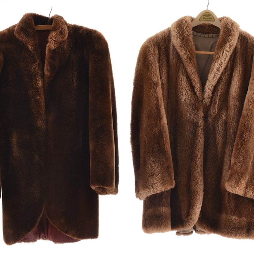 8341e1d64 Vintage Mouton and Sheared Beaver Fur Coats : EBTH