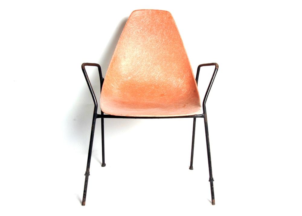 Attrayant Mid Century Modern Fiberglass Chair ...