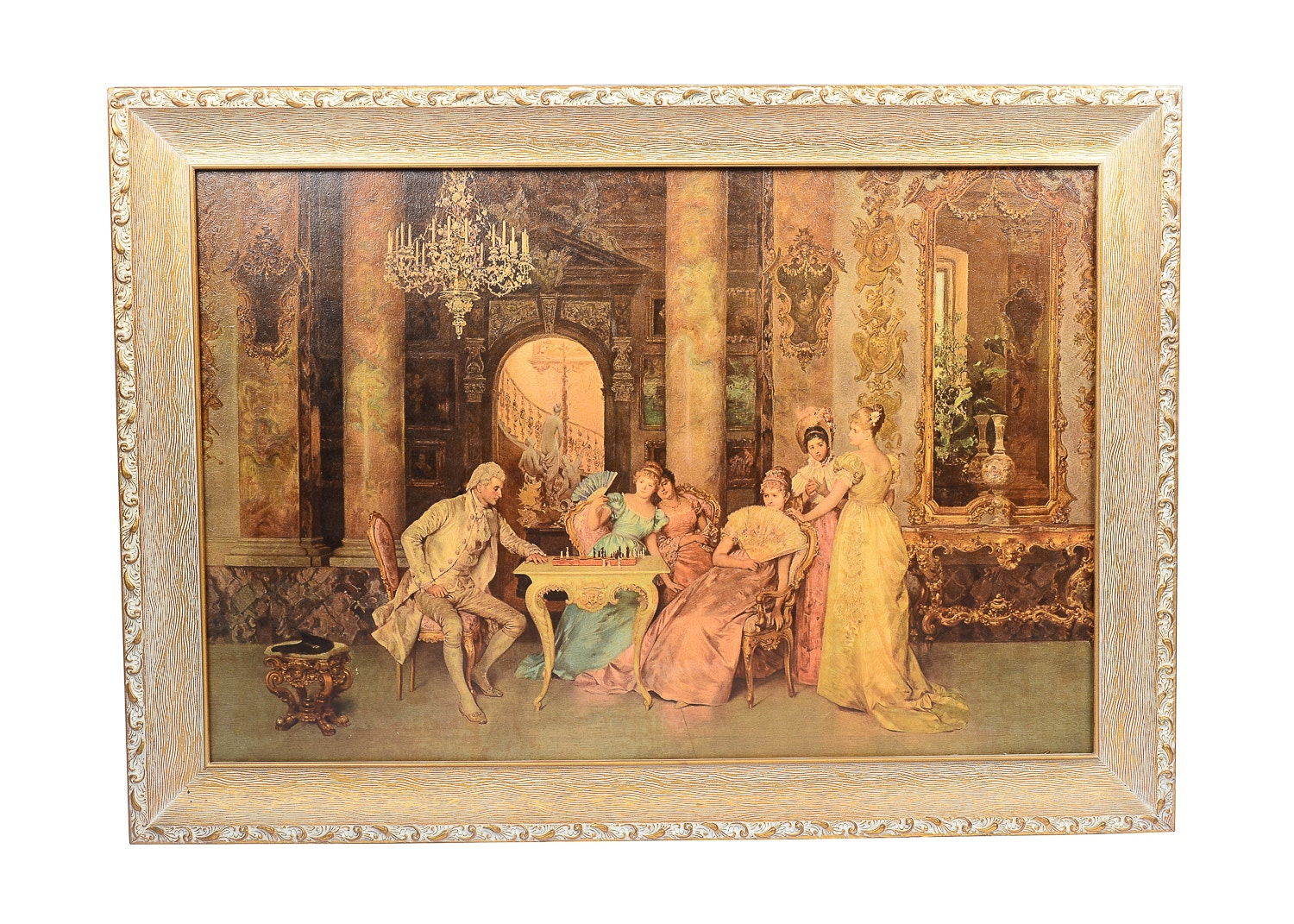 The Chess Game Replica Painting Ebth