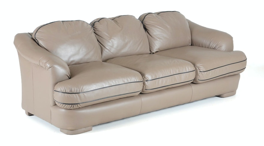 Emerson Leather Sofa Ebth