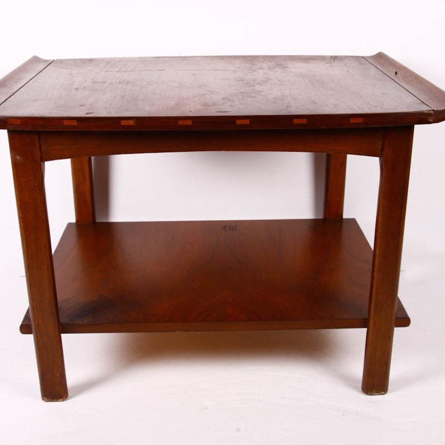 Lane Furniture Mid Century Wood Side Table Ebth