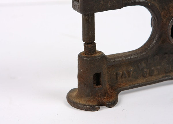 Antique cast iron leather rivet press ebth