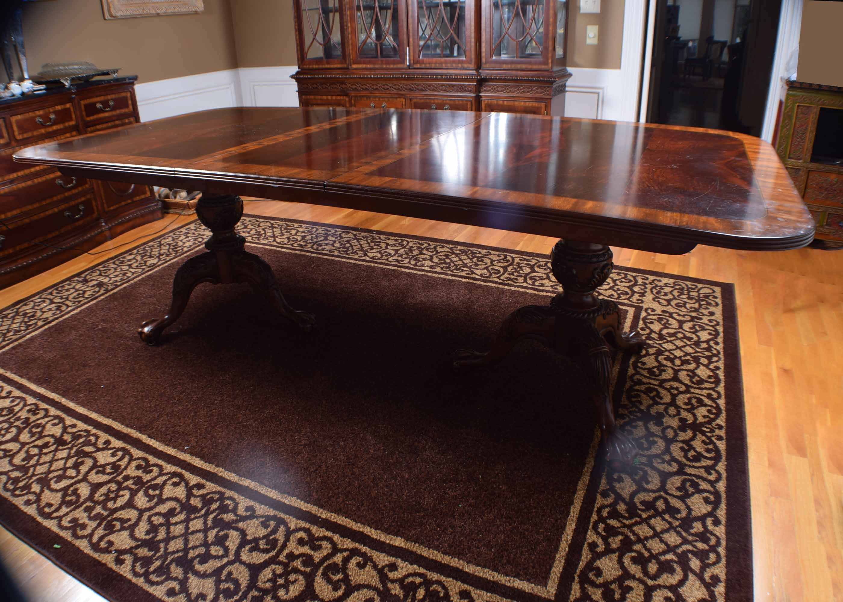 Double Pedestal Mahogany Dining Room Table EBTH