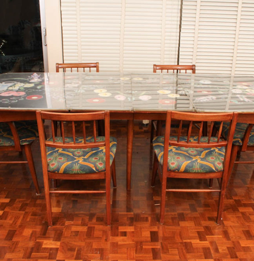 Heritage Henredon Dining Table and Chairs with Removable Cover : EBTH