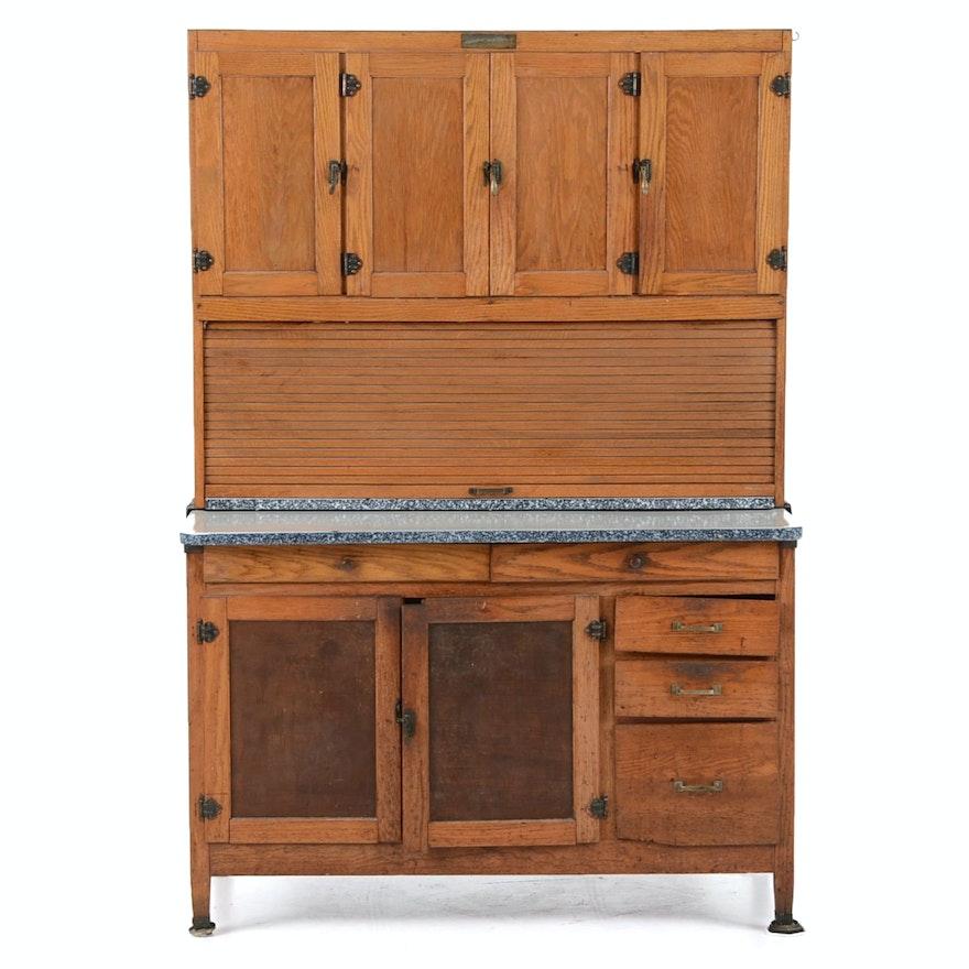 Hoosier Kitchen Cabinet: McDougall Oak Hoosier Kitchen Cabinet : EBTH