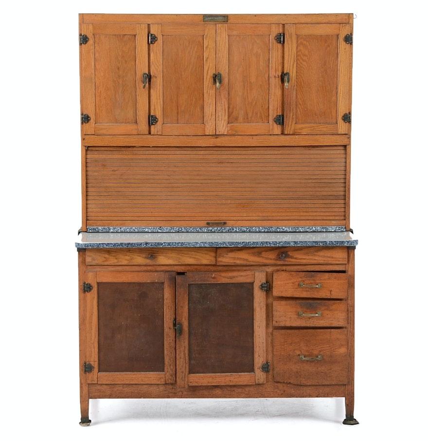 McDougall Oak Hoosier Kitchen Cabinet : EBTH