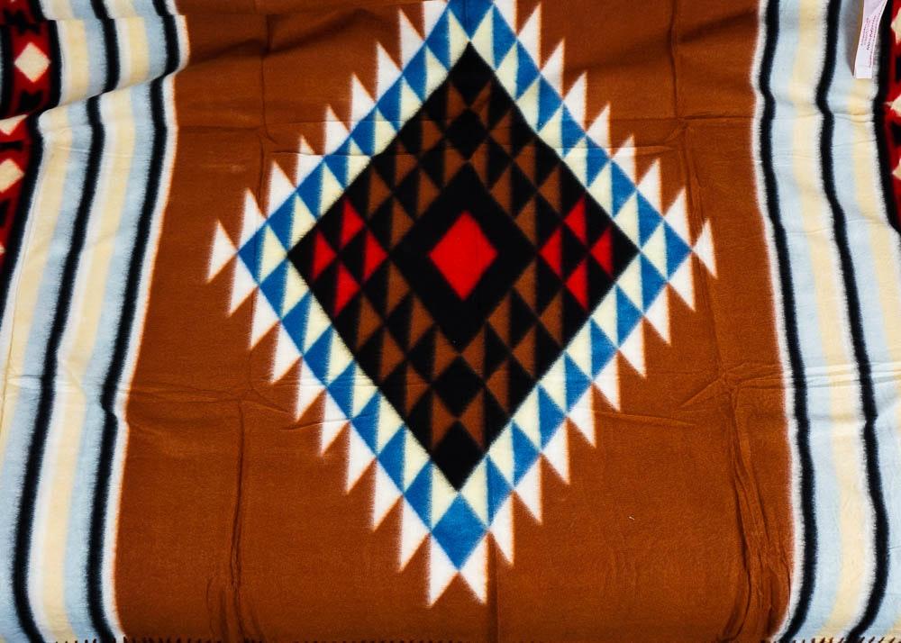 Native American Style Fleece Throw Blanket Ebth