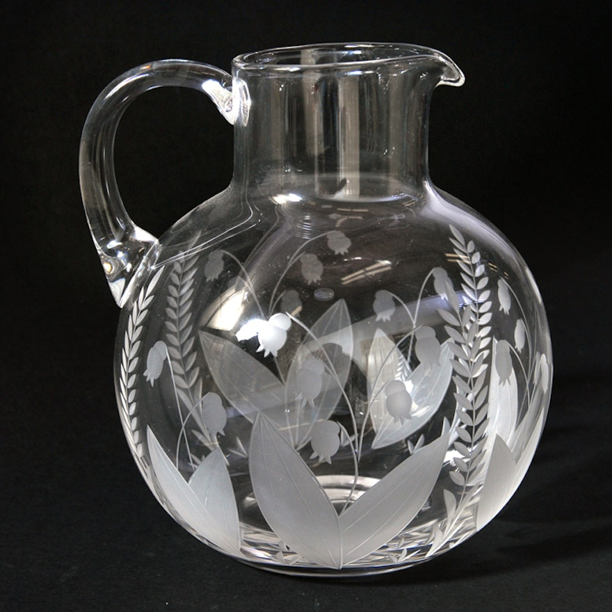 Lily Of The Valley Tiffany Co Crystal Pitcher