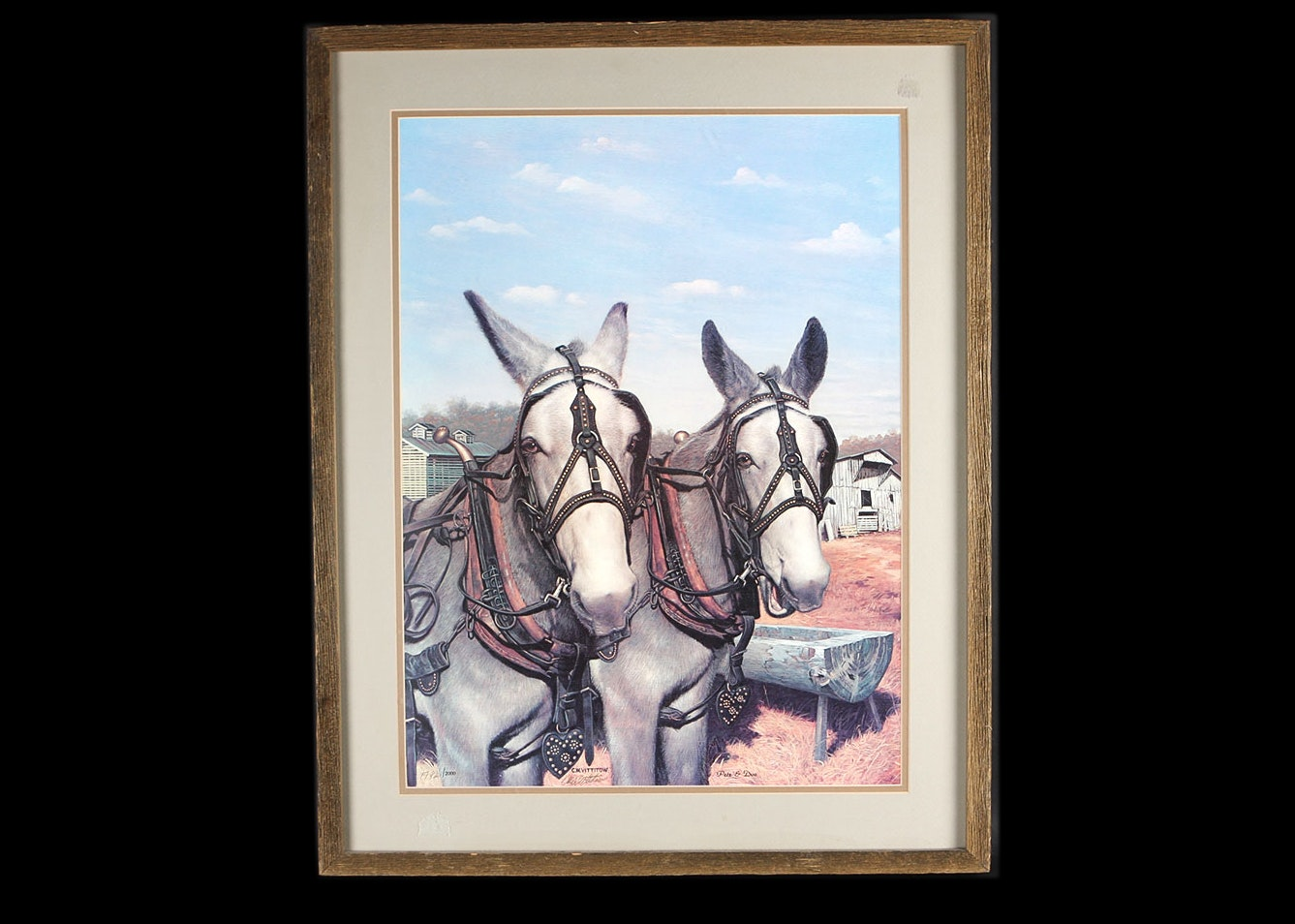 C W Vittitow Offset Lithograph Of Mules Quot Pete And Doc Quot Ebth