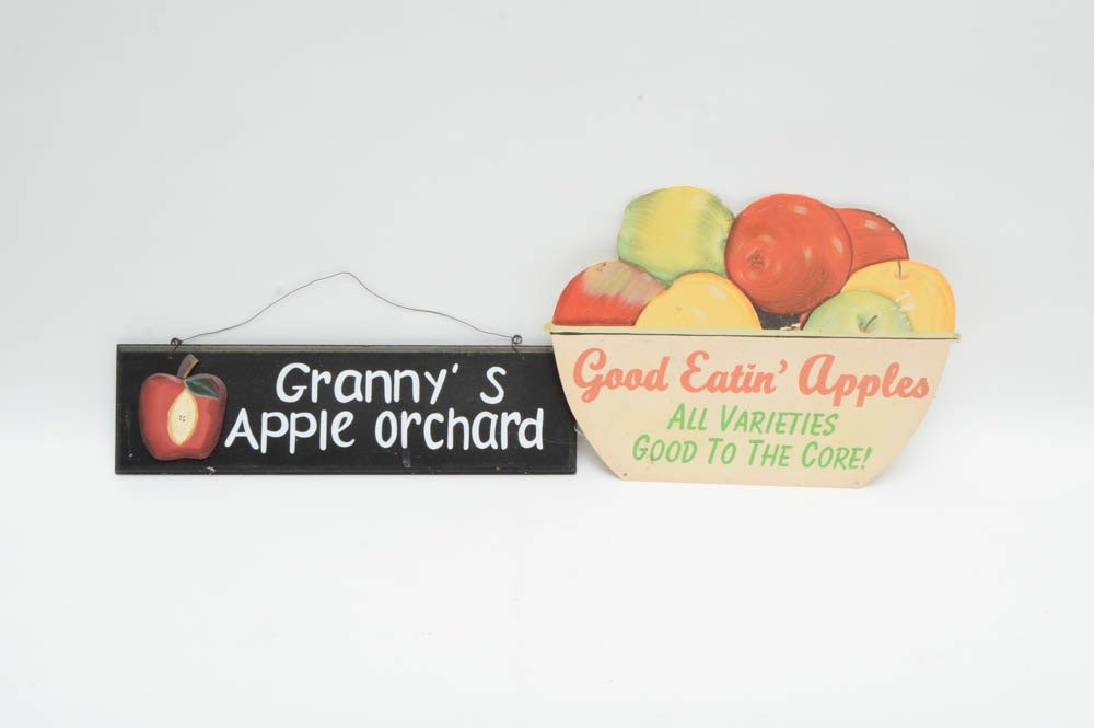 Assortment Of Apple Themed Decor Ebth