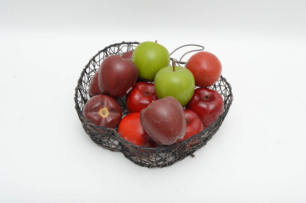 Assortment of apple themed decor ebth for Home interiors apple orchard collection