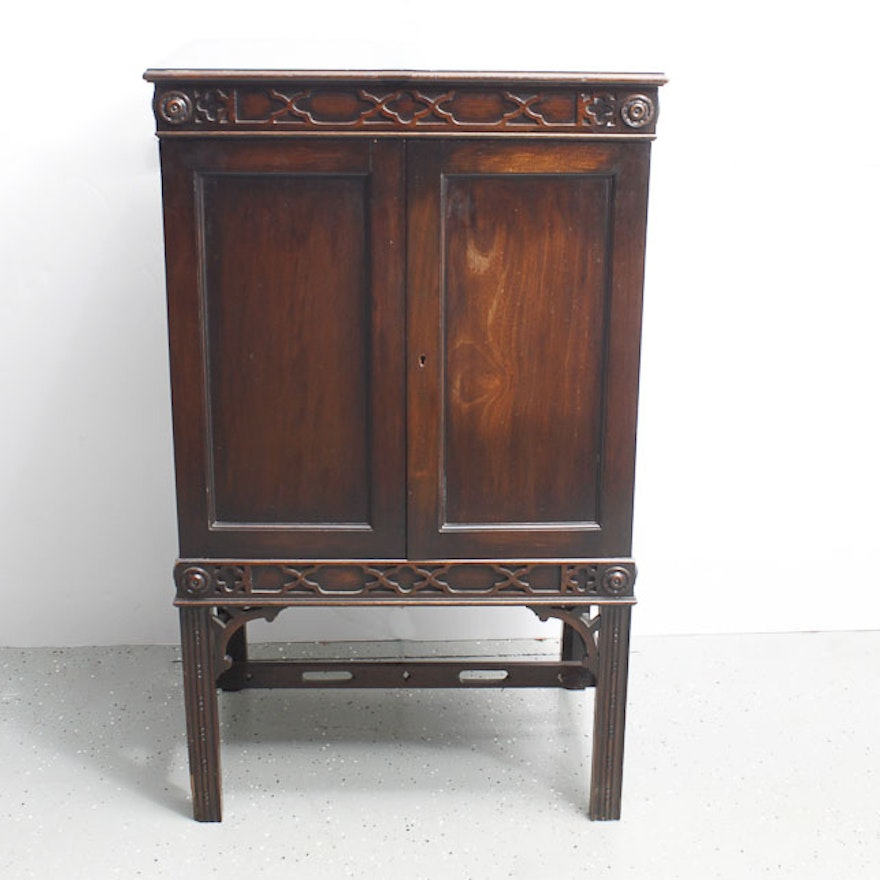 Chinese chippendale music cabinet ebth for Asian furniture tampa