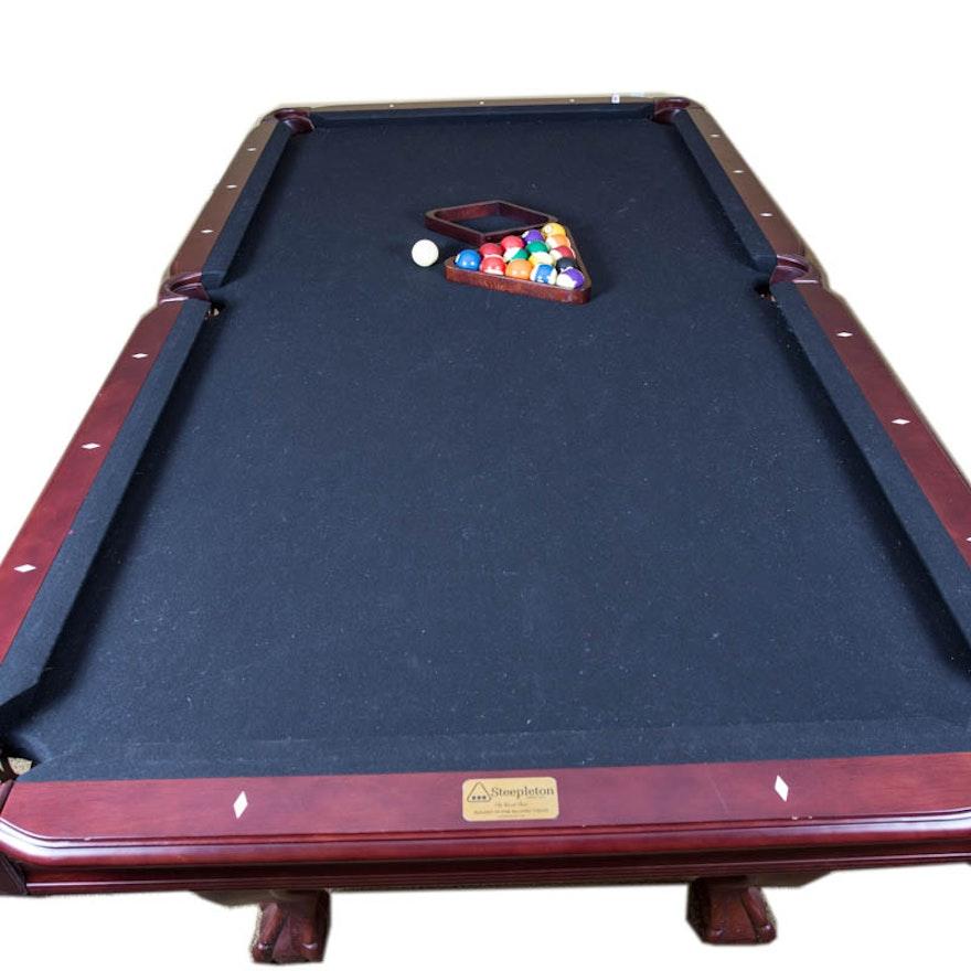 Steepleton Mahogany Ball And Claw Foot Pool Table EBTH - Claw foot pool table