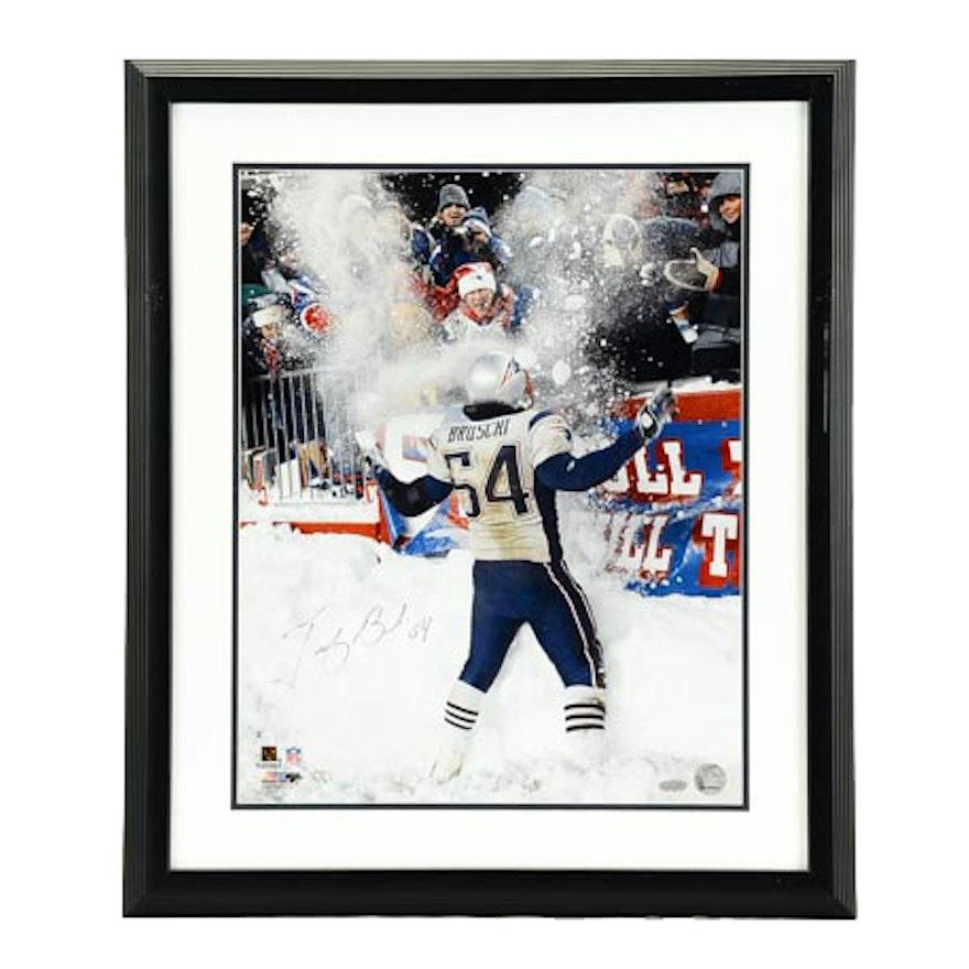8e6f2801b Tedy Bruschi New England Patriots Signed Photo COA   EBTH