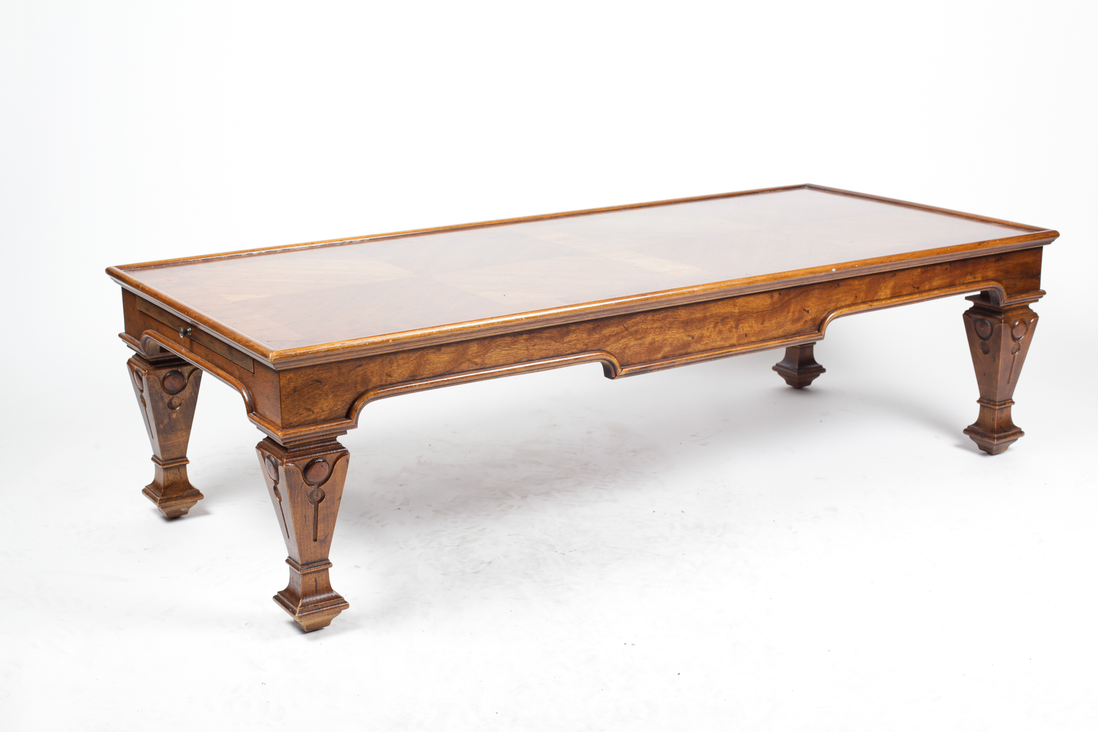 Vintage Coffee Table with Pull-Out Trays : EBTH