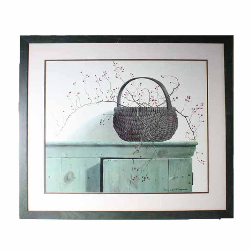 Signed, Framed Pauline Eble Campanelli Offset Lithograph : EBTH