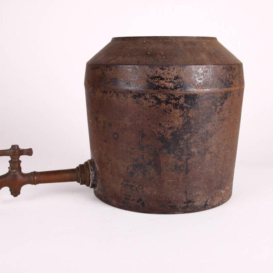 Antique Cast Iron English Pot with Spigot : EBTH