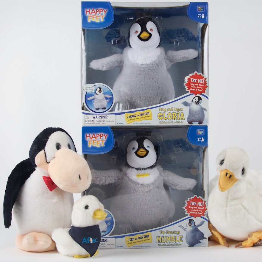 Happy feet toys and assorted penguins ebth for Happy playsets