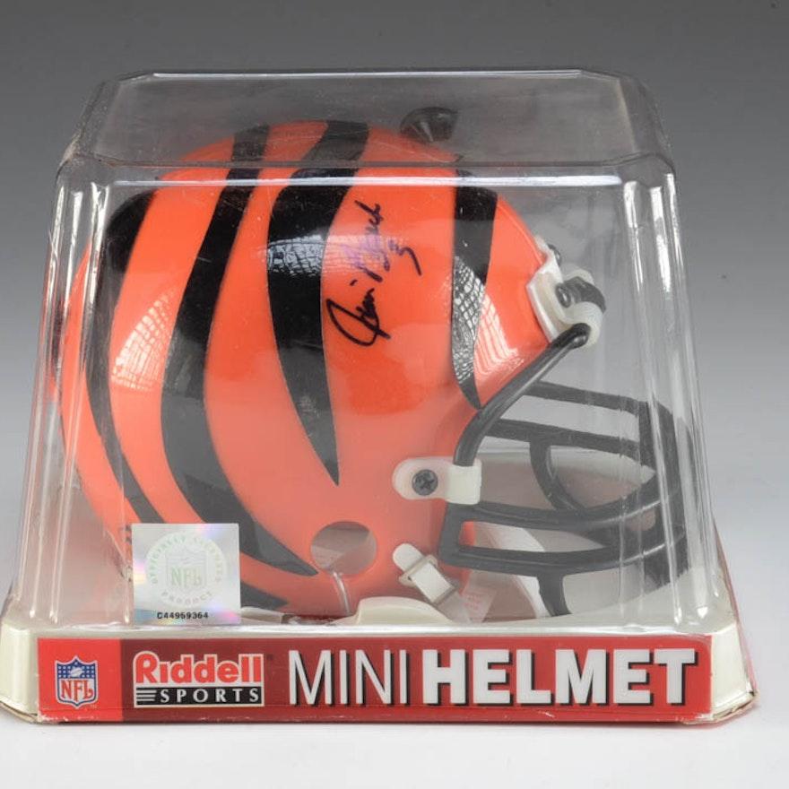 Jim Breech Cincinnati Bengals Signed Mini Helmet