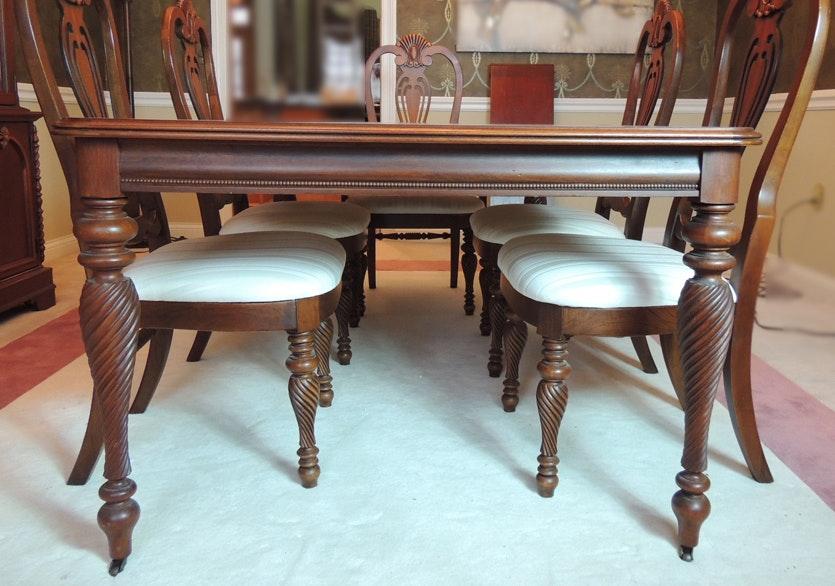 lexington dining room table   Lexington Dining Room Table and Chairs   EBTH