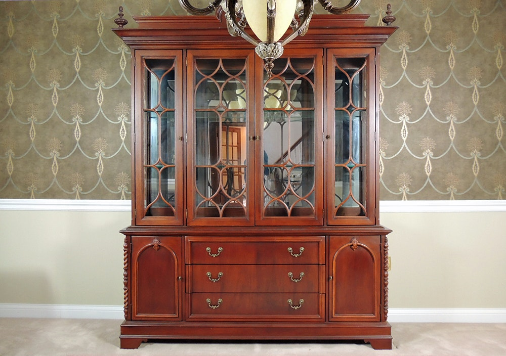 dining set with china cabinet dining room china cabinet ebth 14731