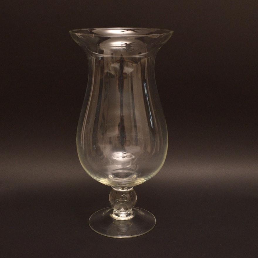 An Oversized Tulip Shaped Glass Vase Ebth