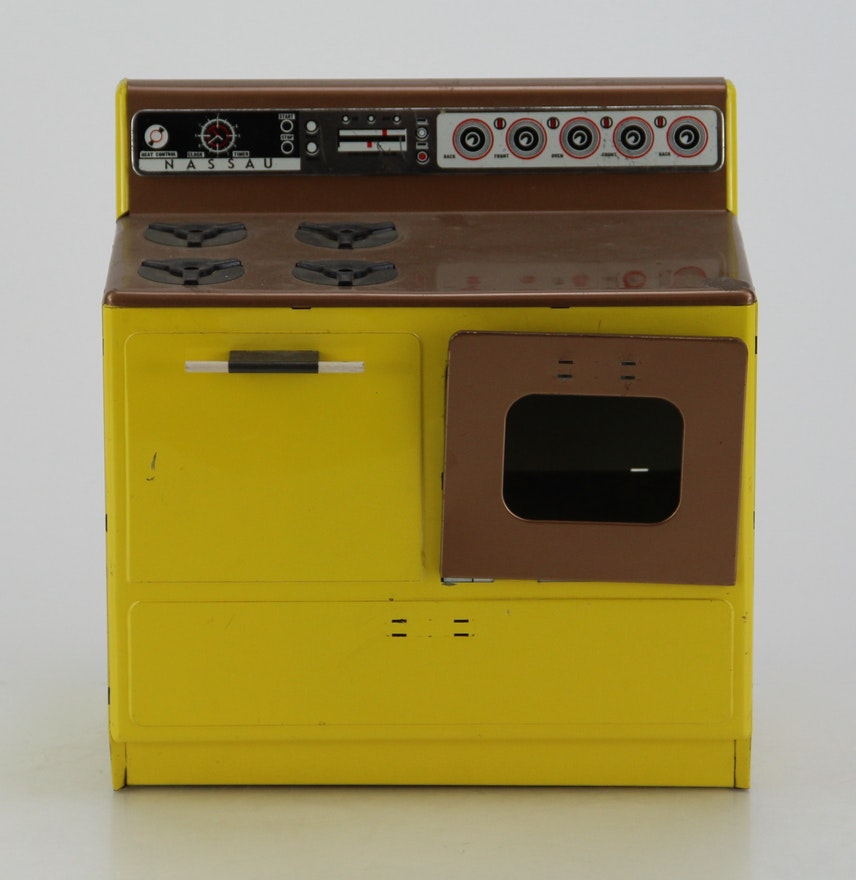 Children S Play Yellow Metal Kitchen