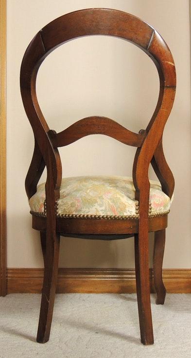 Antique Rococo Revival Balloon Back Side Chair Ebth
