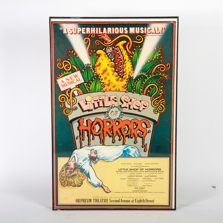 Image result for little shop of horrors off- broadway logo