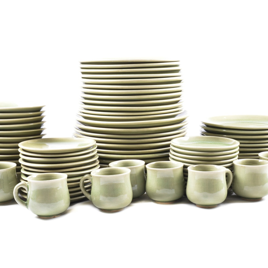 Siam Celadon Pottery Co. Dinnerware Set : EBTH