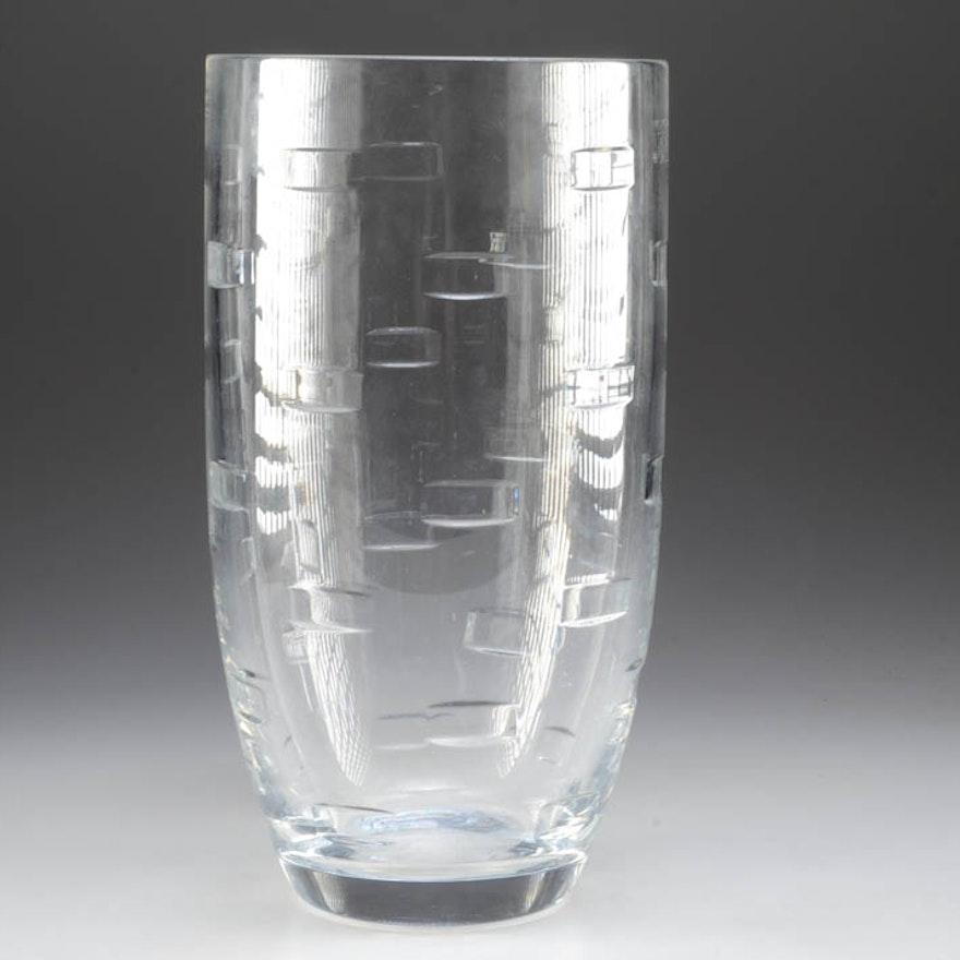 John Rocha Waterford Crystal Geo Oden Polaris Vase Ebth