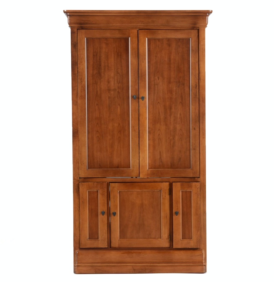 Hooker furniture cherry entertainment armoire ebth for Entertainment armoire