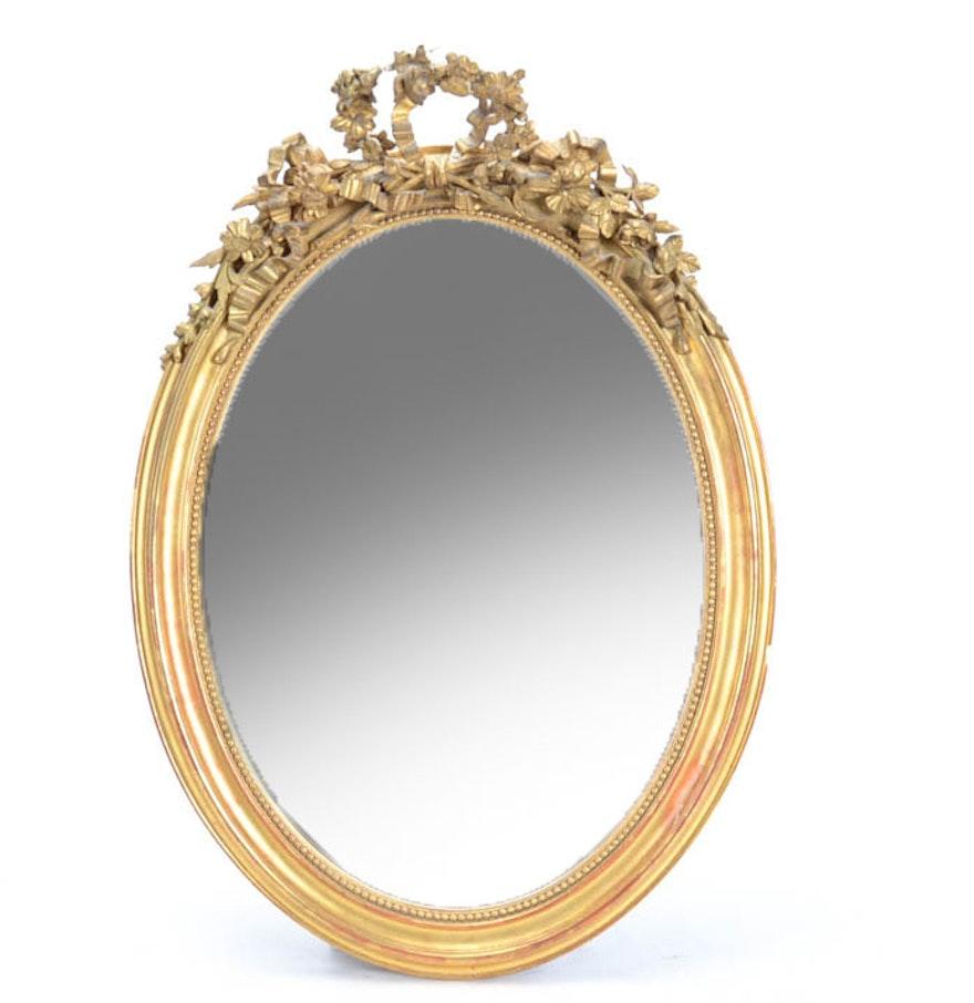 Napoleon iii oval gilt mirror ebth for Mirror 34 productions