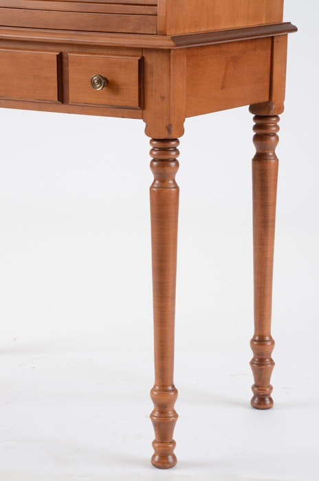 Solid Maple Roll Top Desk By Tell City Chair Co Ebth