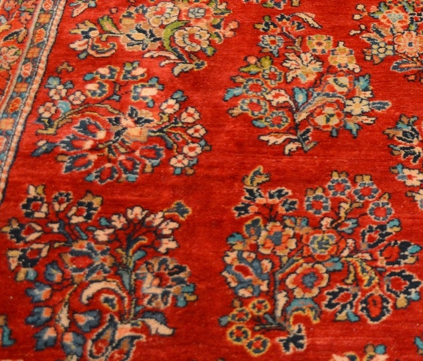 Persian Style Wool Area Rug Ebth: 1920 Large Persian Sarouk Style Red Floral Wool Area Rug