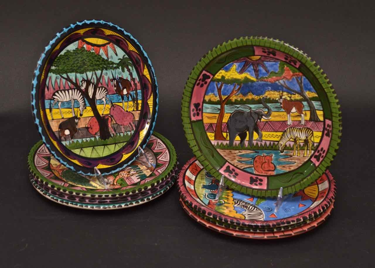 African Hand-painted Plates ... & African Hand-painted Plates : EBTH