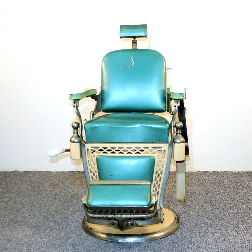 Vintage Emil J Paidar Art Deco Barber Shop Chair